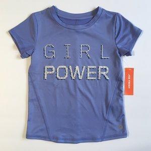 NWT J.Fresh 4Y Girl Power active wear shirt
